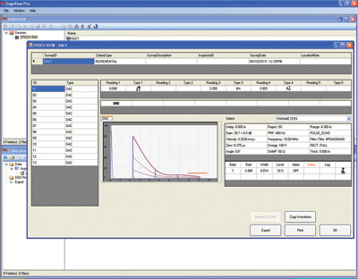 GageView Pro software screen