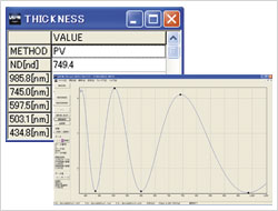 Film Thickness Measurement Screen-shot