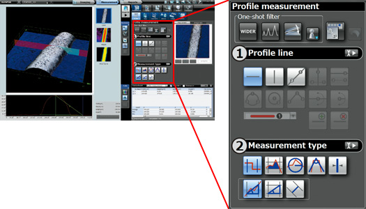 DSX500 Microscope Profile 3D measurement Software Screenshot