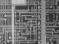 Infra-Red (IR) microscope observation Semiconductor circuit under silicon layer