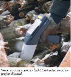 Delta Handheld XRF testing wood