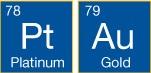 铂金和金元素箱