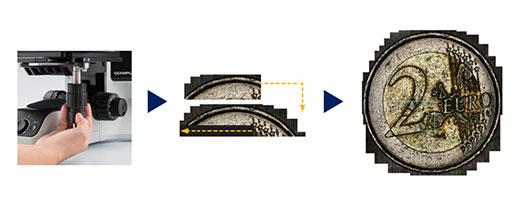 硬貨のインスタントMIA(Multiple Image Alignment)画像