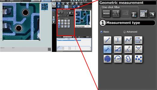DSX500 Microscope Mechanized 2D measurement Software Screenshot