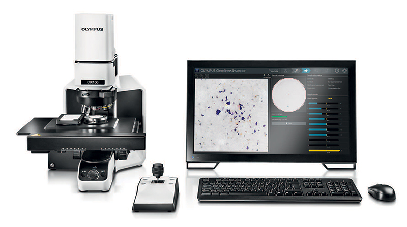 The Olympus CIX100 provides an easy, intuitive particle inspection workflow.