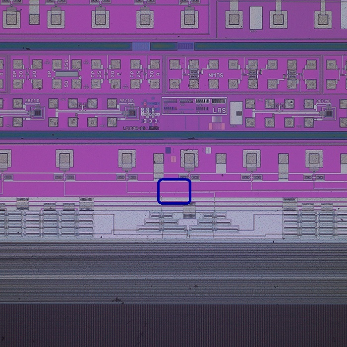 Brightfield observation: Defect detection at low magnification (70X)