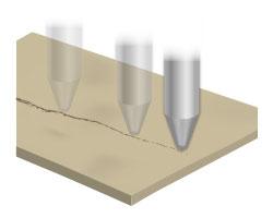 レーザーによるスキャニングイメージ図