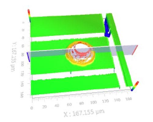 3D image using a white-light interferometer
