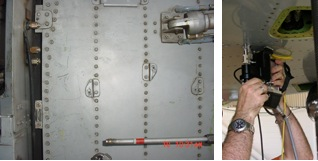 Detail of Typical Inspection Area and Applying AFIS scanner