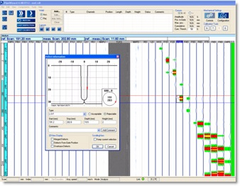 Strip charts, color coding and other analyis tools allow quick assesment and reporting