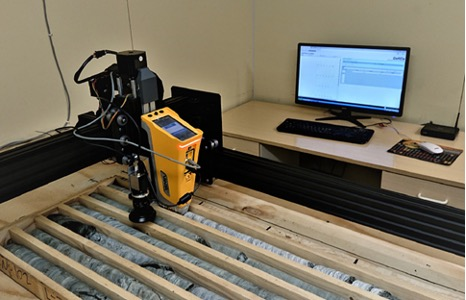 analyzing geological samples using automated XRF