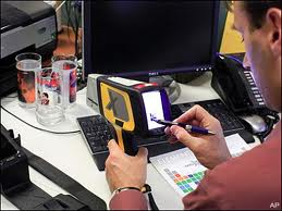 Delta Handheld XRF testing screen