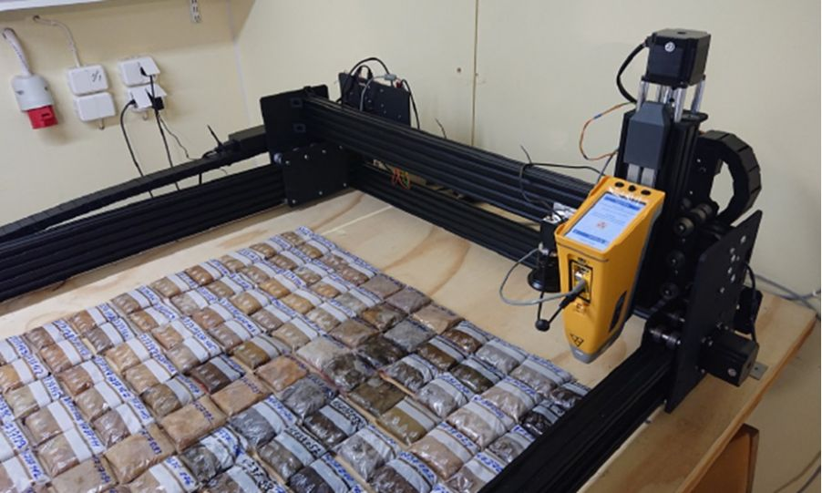 Automated XRF system for gold analysis in geochemical research
