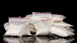 white powder in bags